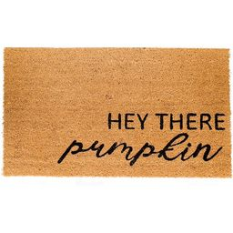 "Natural Coir Doormat with Non-Slip Backing,16""x24"",Outdoor,Indoor,Natural,Hey There Pumpkin, Coco... | Walmart (US)"