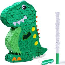Dinosaur Pinata Bundle with a Blindfold and Bat (17x13x3 Inches), Perfect for Birthday Parties, A... | Amazon (US)