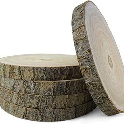 KARAVELLA Large Wood Slices for Centerpieces - 5 Pack Wood Centerpieces for Tables, 9 to 11 inche... | Amazon (US)