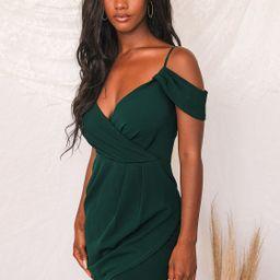 Love So Sweet Hunter Green Off-the-Shoulder Bodycon Dress   Lulus (US)