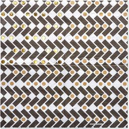 Papyrus Beverage Napkins, Black and Gold (40-Count) | Amazon (US)