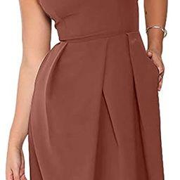 Eliacher Women's Deep V Neck Adjustable Spaghetti Straps Summer Dress Sleeveless Sexy Backless Pa...   Amazon (US)