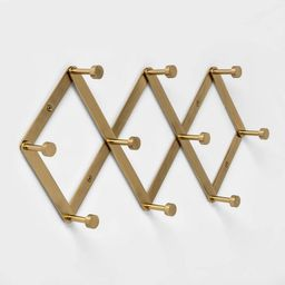 Accordion Decorative Hook Rack Brass - Project 62™ | Target