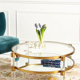 Oscarine Lucite Round Mirrored Coffee Table | Anthropologie (US)