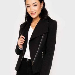 Stretch Knit Moto Jacket | Gibson