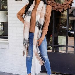 Twilight Time Brown/Black Plaid Scarf | The Pink Lily Boutique