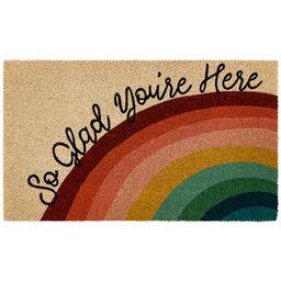 "Mainstays So Glad You're Here Rainbow Coir Doormat 18""X30""   Walmart (US)"