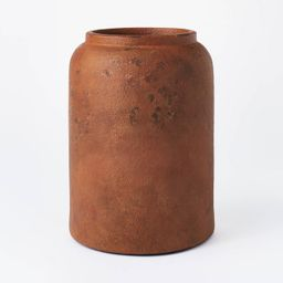 "11"" x 8"" Rustic Vase Brown - Threshold™ designed with Studio McGee | Target"