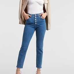 High Waisted Button Fly Slim Jeans | Express