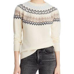 AQUA Cashmere                                                                Fair Isle Sweater - ... | Bloomingdale's (US)