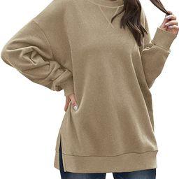 Dofaoo Sweatshirt for Women Crewneck Long Sleeve Shirts Casual Tunic Tops to Wear with Leggings | Amazon (US)