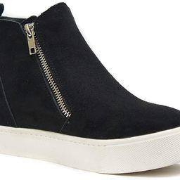 Soda Taylor Hidden Wedge Booties Fashion Sneaker Shoes Side Zipper | Amazon (US)