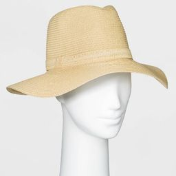 Women's Packable Essential Straw Fedora Hat - A New Day™ One Size Natural | Target