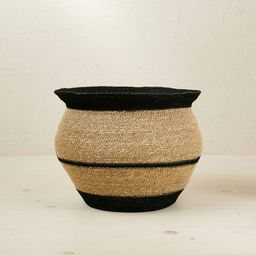 """10"""" x 14"""" Round Seagrass Decorative Basket Black - Opalhouse™ designed with Jungalow™ 