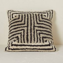 Maze Pattern Loop Tufted Square Throw Pillow Black/Cream - Opalhouse™ designed with Jungalow™ | Target