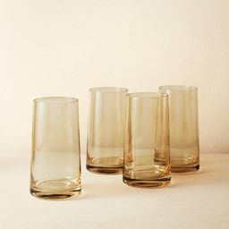 20oz 4pk Glass Tall Tinted Tumblers - Opalhouse™ designed with Jungalow™   Target