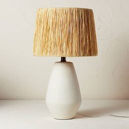 Ceramic Table Lamp with Natural Shade Cream (Includes LED Light Bulb) - Opalhouse™ designed wit...   Target