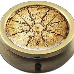 Pill Box - Cheliz Compact 3 Compartment Medicine Case, Pill Box for Pocket or Purse(Compass-1)   Amazon (US)
