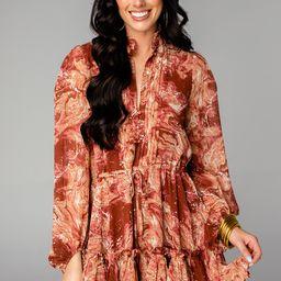 Grace Long Sleeve Short Dress - Maple Sugar | BuddyLove