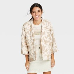 Women's Quilted Short Duster - Universal Thread™ Cream One Size   Target