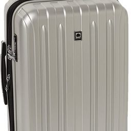 DELSEY Paris Titanium Hardside Expandable Luggage with Spinner Wheels, Silver, Carry-On 21 Inch   Amazon (US)