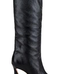 Schutz Maryana Stack Flare Boot in Black from Revolve.com | Revolve Clothing (Global)