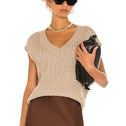 L'Academie Hara Sweater Vest in Tamarind from Revolve.com   Revolve Clothing (Global)