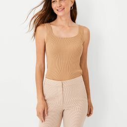 Ribbed Square Neck Sweater Tank | Ann Taylor (US)
