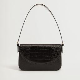 Croc-effect flap bag | MANGO (US)