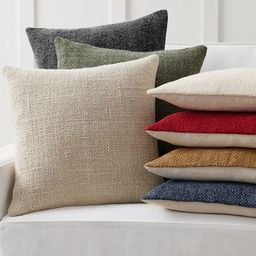 Faye Linen Textured Pillow Covers   Pottery Barn (US)