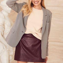 Trendy Moment Plum Purple Vegan Leather Mini Skirt | Lulus (US)
