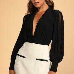 Friday Feeling Black Long Sleeve Bodysuit | Lulus (US)