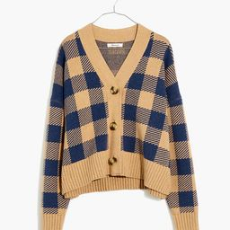 Bayberry Cardigan Sweater in Buffalo Check   Madewell