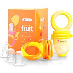 NatureBond Baby Food Feeder/Fruit Feeder Pacifier (2 Pack) - Infant Teething Teether | Includes A... | Amazon (US)