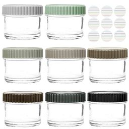 Youngever Glass Baby Food Storage, 4 Ounce Stackable Baby Food Glass Containers with Airtight Lid... | Amazon (US)