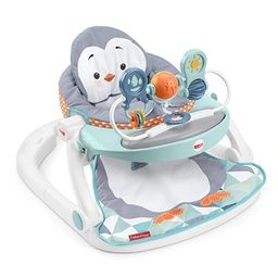 Fisher-Price Sit-Me-Up Floor Seat with Tray, Penguin-Themed Portable Infant Chair with Snack Tray... | Amazon (US)