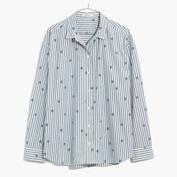 Floral Painter Shirt in Stell Stripe   Madewell