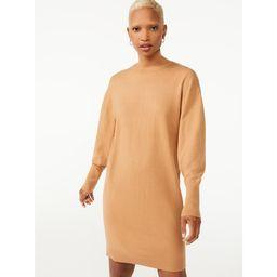 Free Assembly Women's Turtleneck Sweater Dress - Walmart.com | Walmart (US)