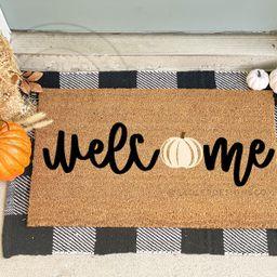 Pumpkin Welcome Mat   Pumpkin Doormat   Fall Doormat   Fall Decor   Etsy (US)
