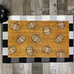 Minimalist White Pumpkin Fall Decor Doormat   Etsy (US)