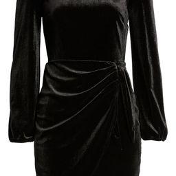 Long Sleeve Velvet Cocktail Minidress | Nordstrom