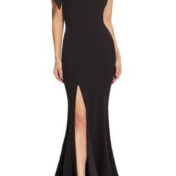 Georgina One-Shoulder Crepe Gown | Nordstrom