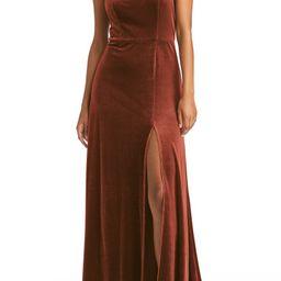 Velvet A-Line Gown | Nordstrom