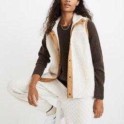 Addition Sherpa Vest   Madewell