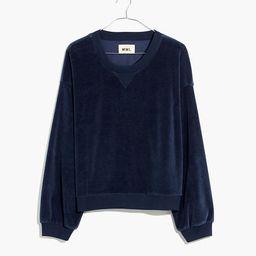 MWL Velour Crewneck Sweatshirt | Madewell