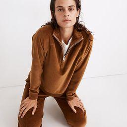 MWL Velour Half-Zip Sweatshirt | Madewell