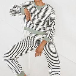 MWL Velour Crewneck Sweatshirt in Stripe | Madewell