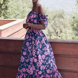 Love and Blooms Navy Blue Floral Print Off-the-Shoulder Dress   Lulus (US)