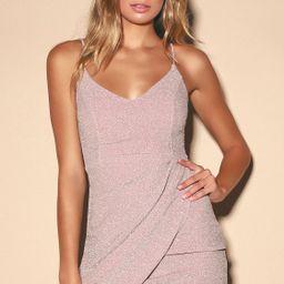 Forever Your Girl Metallic Blush Pink Bodycon Dress | Lulus (US)