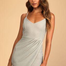 Forever Your Girl Metallic Beige Bodycon Dress | Lulus (US)